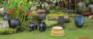 antique pot garden